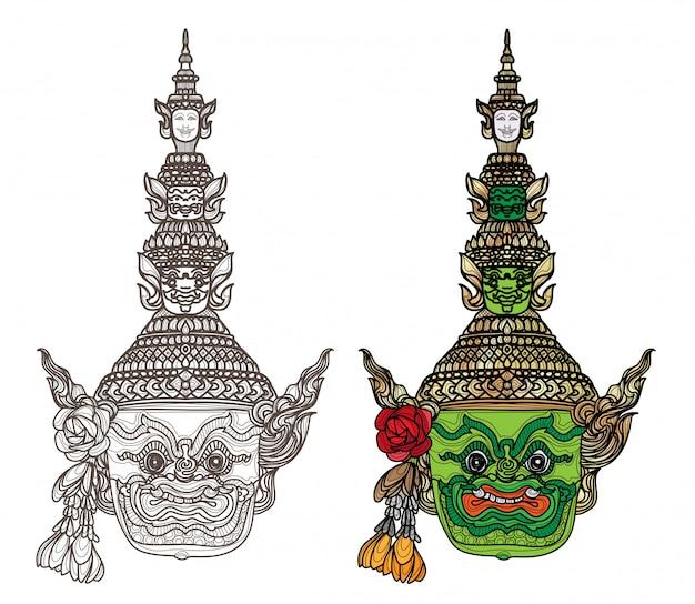 Arte del tatuaje dibujo a mano gigante y color de boceto