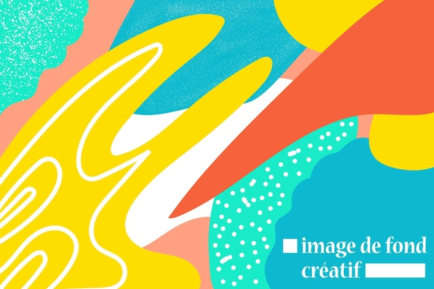 Arte temporal abstracto de fondo con grano y colorido brillante