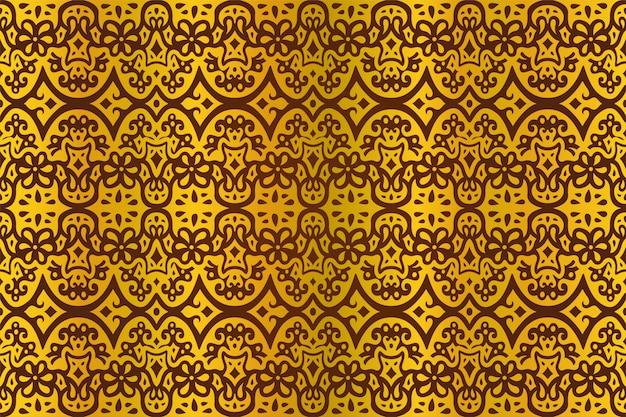 Arte vectorial con patrón transparente oriental dorado