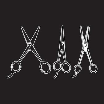 Artículo de barbería vintage aislado alto detallado
