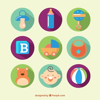 Artículos de bebé coloridos