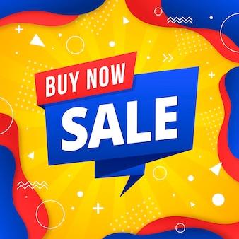 Asbtract colorido concepto de fondo de ventas