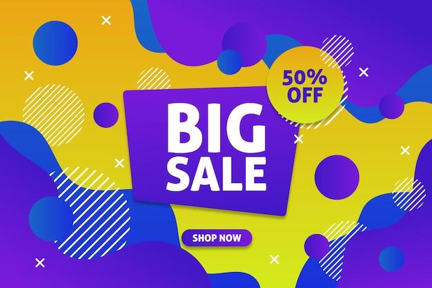 Asbtract colorido fondo de pantalla de ventas