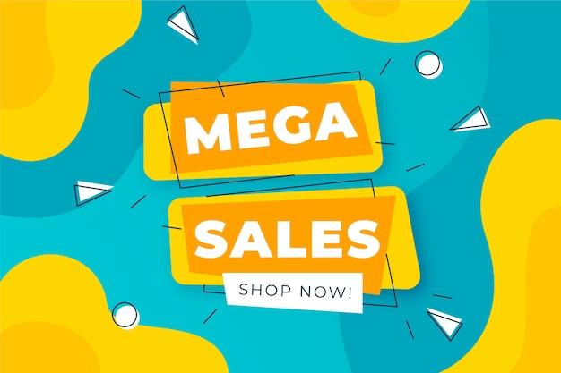 Asbtract colorido fondo de ventas