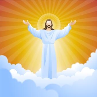 Ascensión resurrección día del hijo de dios