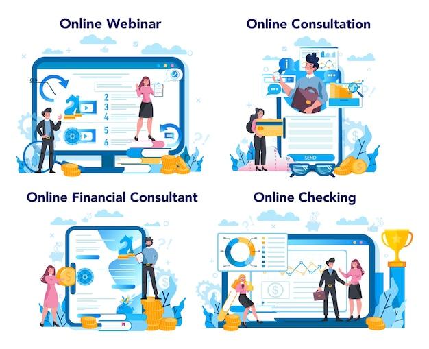 Asesor financiero o concepto financiero. carácter empresarial haciendo operación financiera. calculadora, inversión, investigación y contrato.