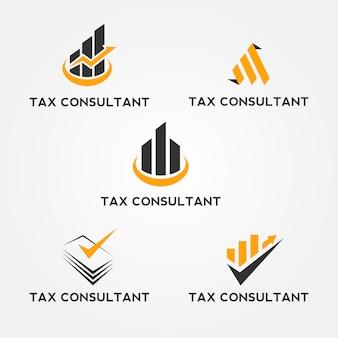 Asesor de impuestos logo set