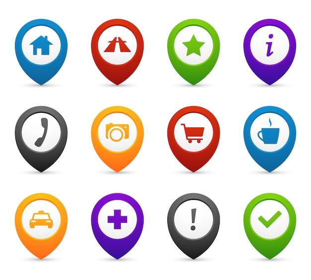Asignación de alfileres con iconos de ubicación