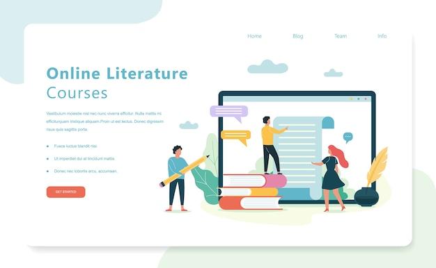 Asignatura de la escuela de literatura. idea de educación y conocimiento