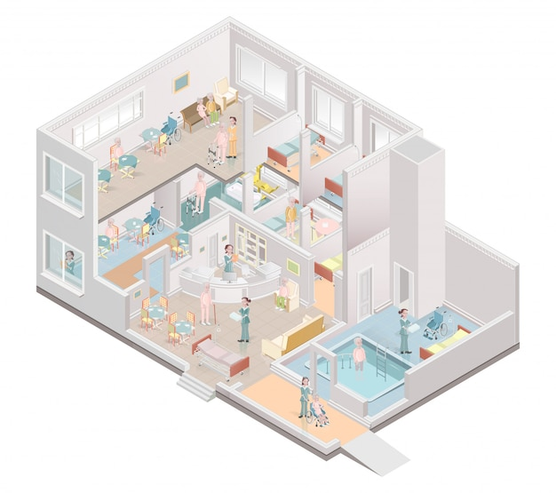 Asilo de ancianos. centro de vida asistida