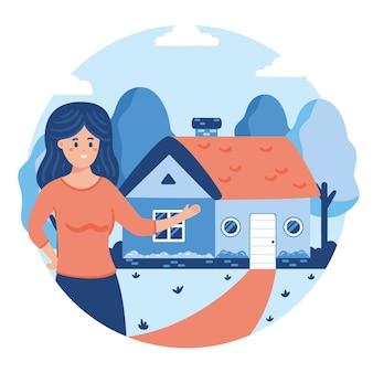 Asistencia creativa de inmobiliarias ilustrada