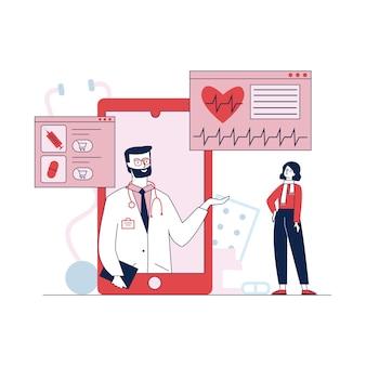 Asistencia médica y tratamiento a través de teléfonos inteligentes.