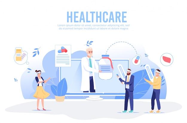 Asistencia de soporte médico en línea. servicio de diagnóstico sanitario digital.