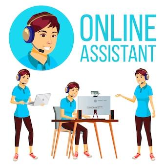 Asistente asiática online mujer