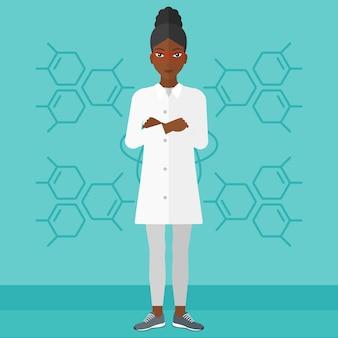 Asistente de laboratorio femenino