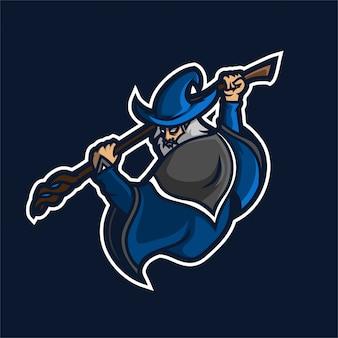 Asistente con personal mágico esport gaming mascot logo template