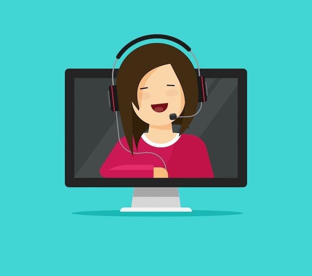 Asistente de soporte en línea o consultor