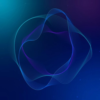 Asistente virtual tecnología vector forma de círculo irregular en azul