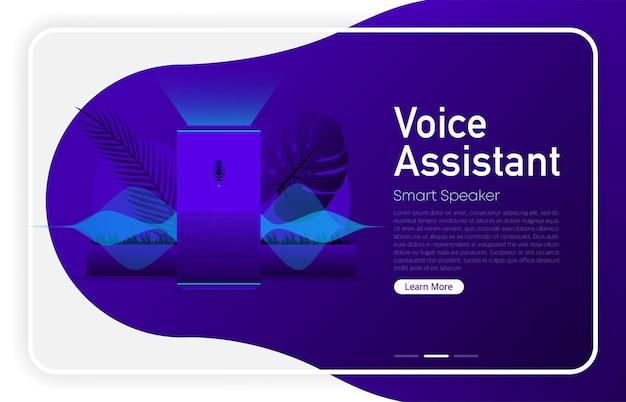 Asistente de voz gran diseño para cualquier propósito fondo de tecnología de inteligencia artificial