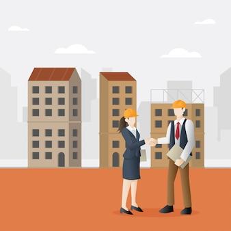 Asociación exitosa en el negocio de la construcción