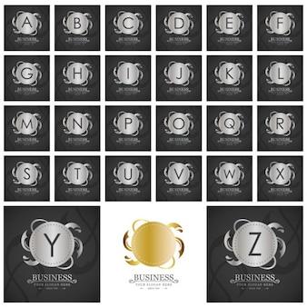 Asombrosa colección de logotipos plateados