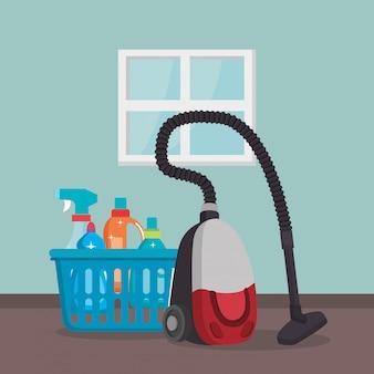 Aspiradora con servicio de lavandería.