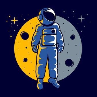 Astronauta con un divertido estilo hover