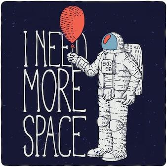 Astronauta divertido