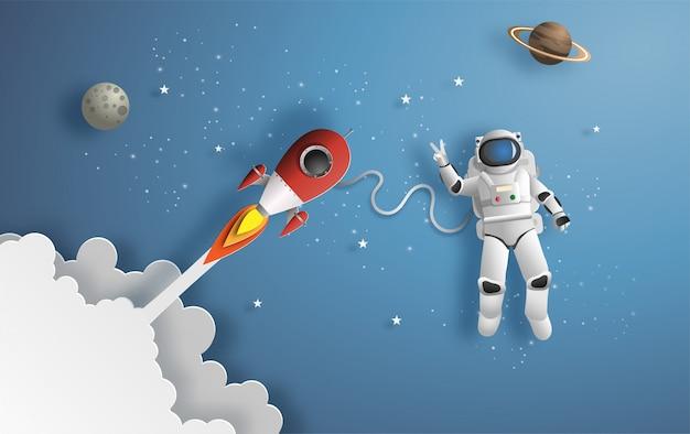 Astronauta en el espacio exterior.