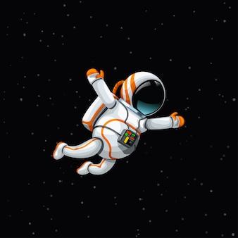 Astronauta en el espacio profundo