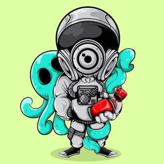 El astronauta y el pulpo
