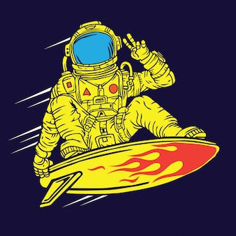 Astronauta space surfer