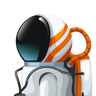 Astronauta vista lateral cercana