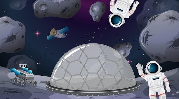Astronautas en el campamento espacial