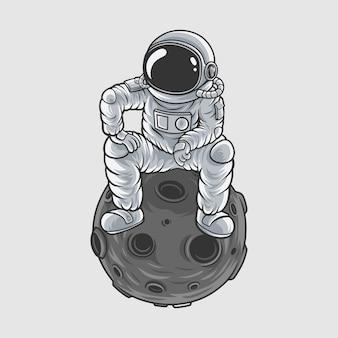 Astronautas maestro de la luna