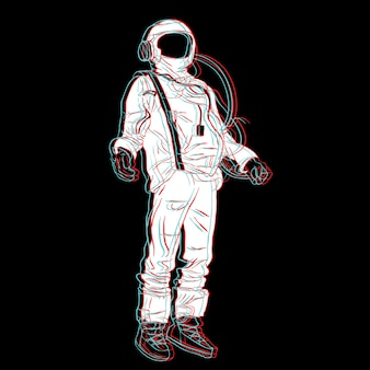Astronomía espacio humano línea arte