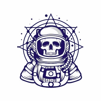 Astrounot calavera vector