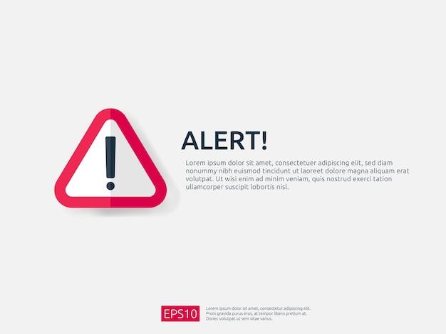 Atención alerta señal de alerta pancarta