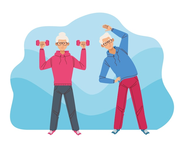 Atletas de pareja mayor