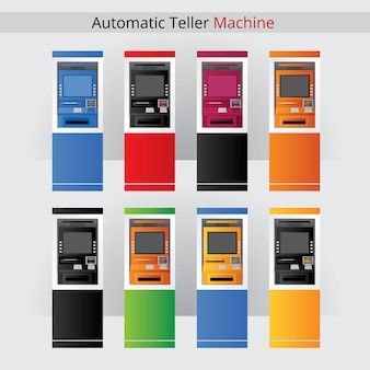 Atm colors set vector illustration