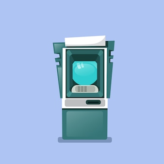 Atm machine icon terminal aislada para retirar efectivo