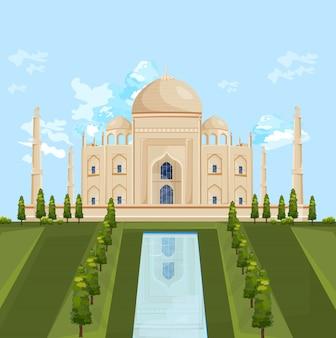 Atracción del edificio taj mahal india