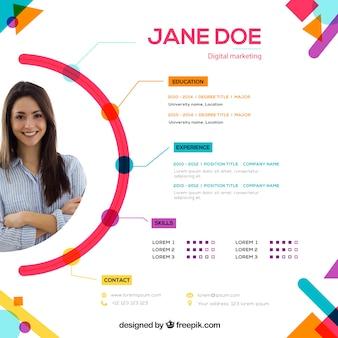 Atractiva plantila de currículum online