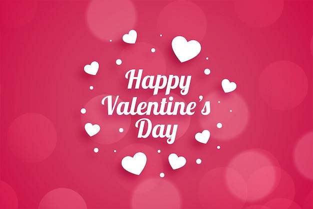 Atractiva tarjeta de felicitación feliz del día de san valentín
