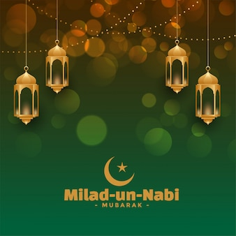 Atractiva tarjeta del festival milad un nabi