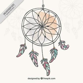 Atrapa sueños, dibujado a mano