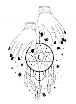 Atrapasueños místicos.