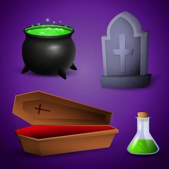 Atributos de celebración de halloween