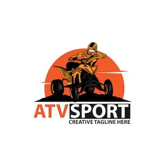 Atv sport, un deporte de logo de ilustración