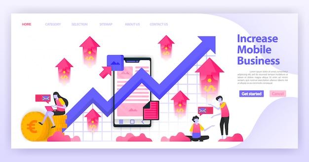 Aumentar la página de inicio de negocios móviles